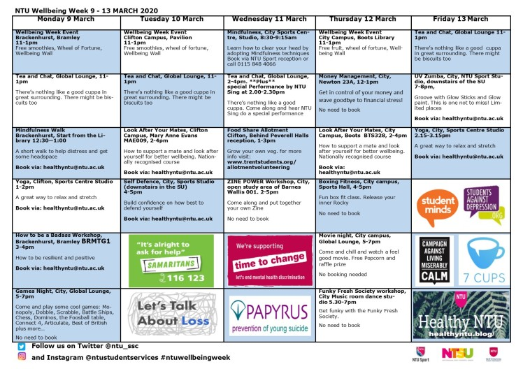 Wellbeing Week Programme NEW